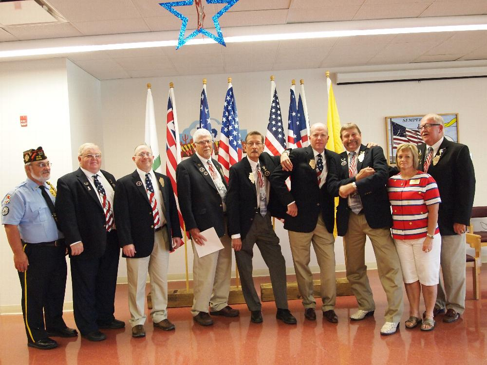What a crew!  State President Dr. Dennis and 1st Lady Jeanette Gerleman and State Officers at 2015 Flag Day ceremony at LaSalle Veterans Home.