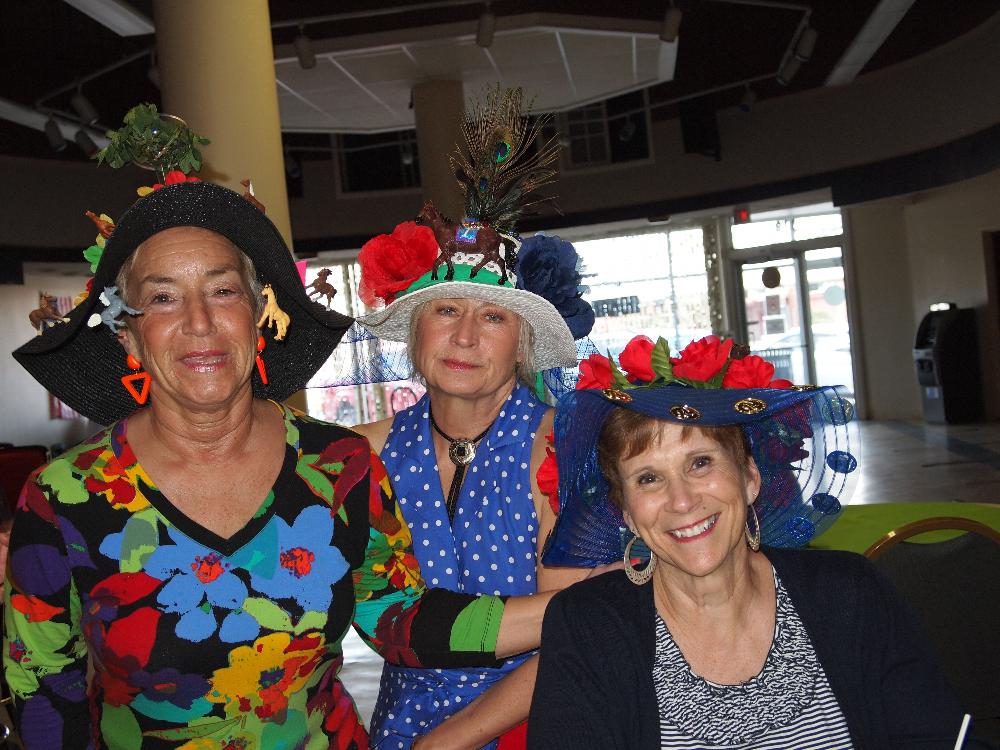 Some of our Kentucky Derby Hat contest ladies.  Lookin' good ladies!