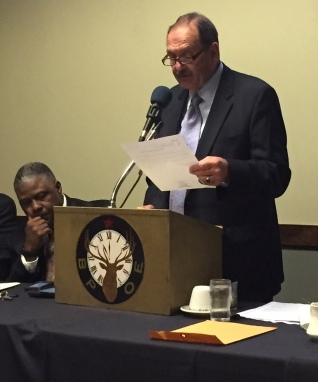 Mark D. Suben, Cortland County District Attorney served as Master of Ceremonies for the even.