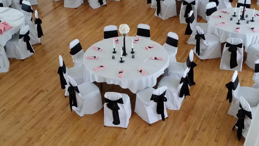 Ballroom table set-up