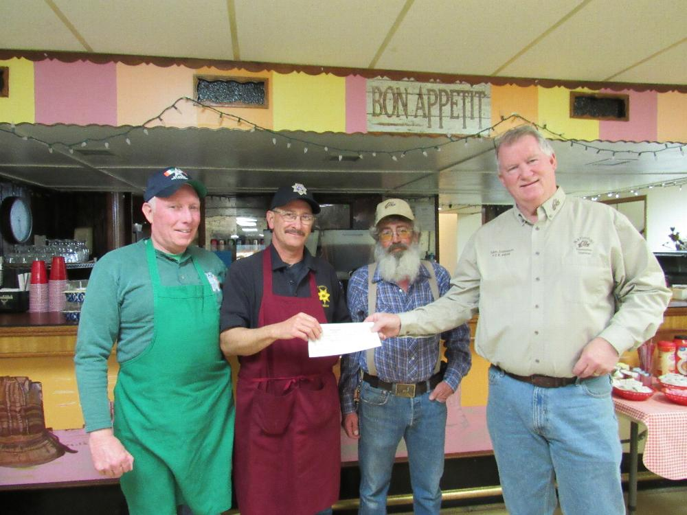 Salida Elks donation to Chaffee County Crime Stoppers from the Anniversary Grant 2017-2018