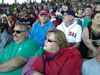 Fenway Park Herc Wells and Pete Valtz Tami and Stacy Holden