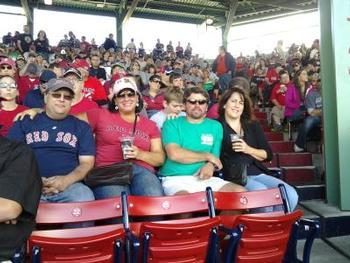 Fenway Park Brian Martel, Chrissy, Scott and Cathy Royce