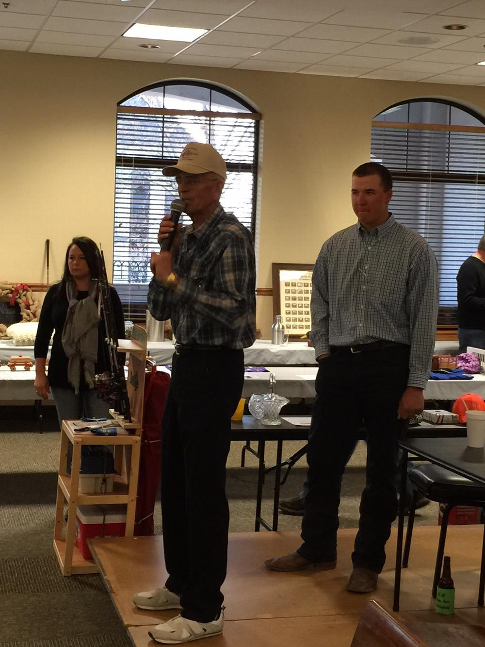 Kids Zoo Auction March 2015  Kami McClendon, Auctioneers Charlie Zink, PER and Adam Cummings, Tiler.  Over $15,000 was raised for the youth.  Thanks Clinton Elks!!!