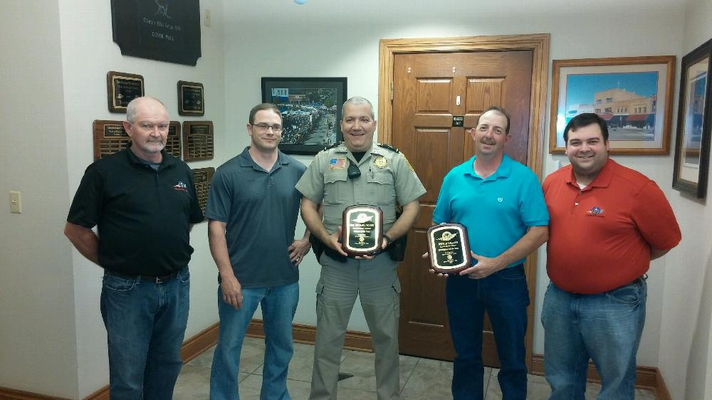 First Responders Appreciation Awards 2015 Leland Smith, Philip Lynch, Mike Nelson, Mitch Grimes and Zac Maggi