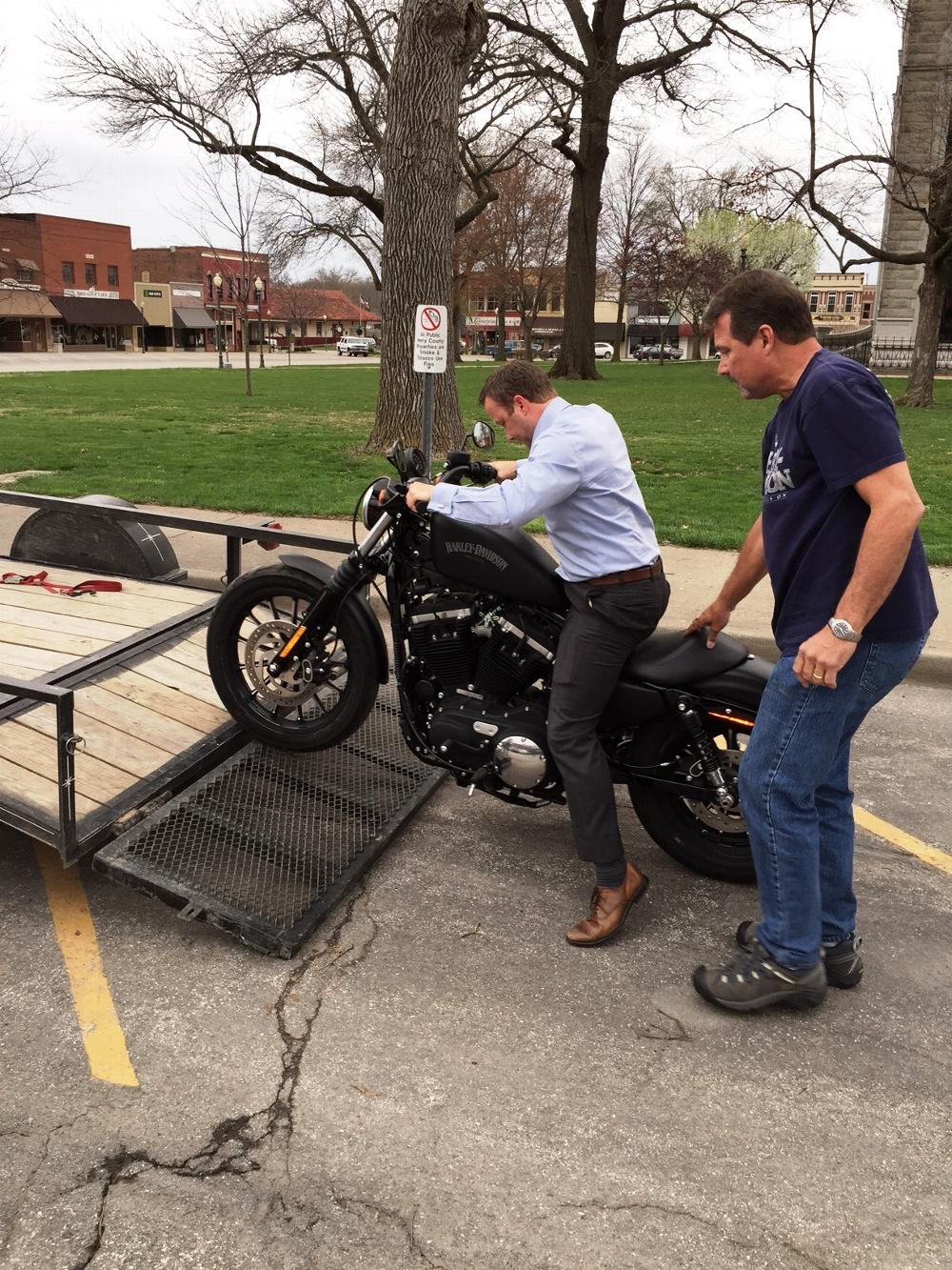New Harley we are giving away in 2015. Travis Bartlett, PER and Kenny Kaiser, PDDGER