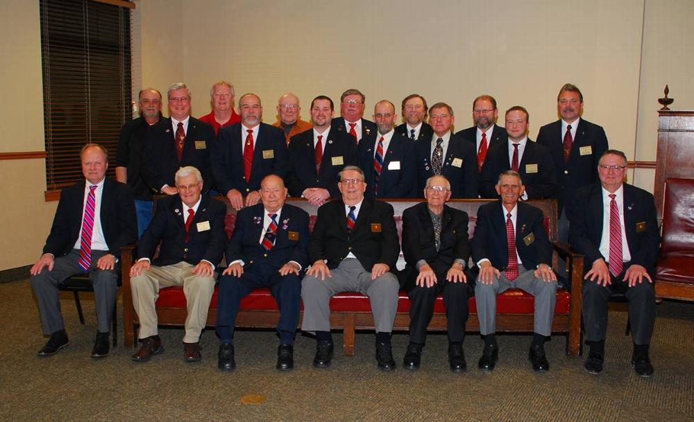 Clinton Elks Lodge hosted their annual Past Exalted Rulers night February 23, 2015   Pictured bottom row left to right: Tim Glasscock, Wayne Hall, Franklin Goslin, Lou Daugherty, Chuck Hull, Charlie Zink, David Cummings, 2nd Row: Jim Glasscock, Scott Humphreys, Jeff Stone, Rob Sheek, Don Turner, Travis Bartlett,  back row: Mike Jones, Steve Cummings, Charles Townsend, Kent Batschelett, Kevin Young, John Hill, Kenny Kaiser