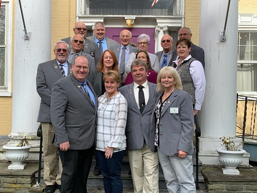 2019 State President Visit to Owego Lodge. Front Row: State President Brian J. Greene, First Lady Tonia Balfour, Owego ER Steve Gregory and Diane Gregory (Loyal Knight)