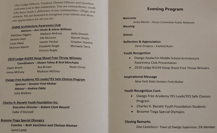 2019 Youth Recognition Program