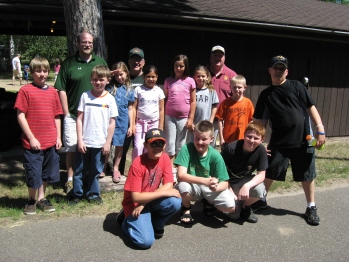 The 2007 youth camp crew! Also pictured, Keith Marek, Joe Forbes and E.R. Ken Traxler.