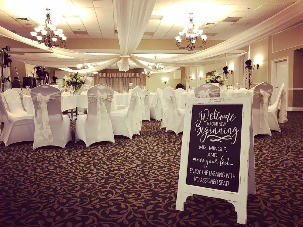 Our beautiful ballroom all dressed up