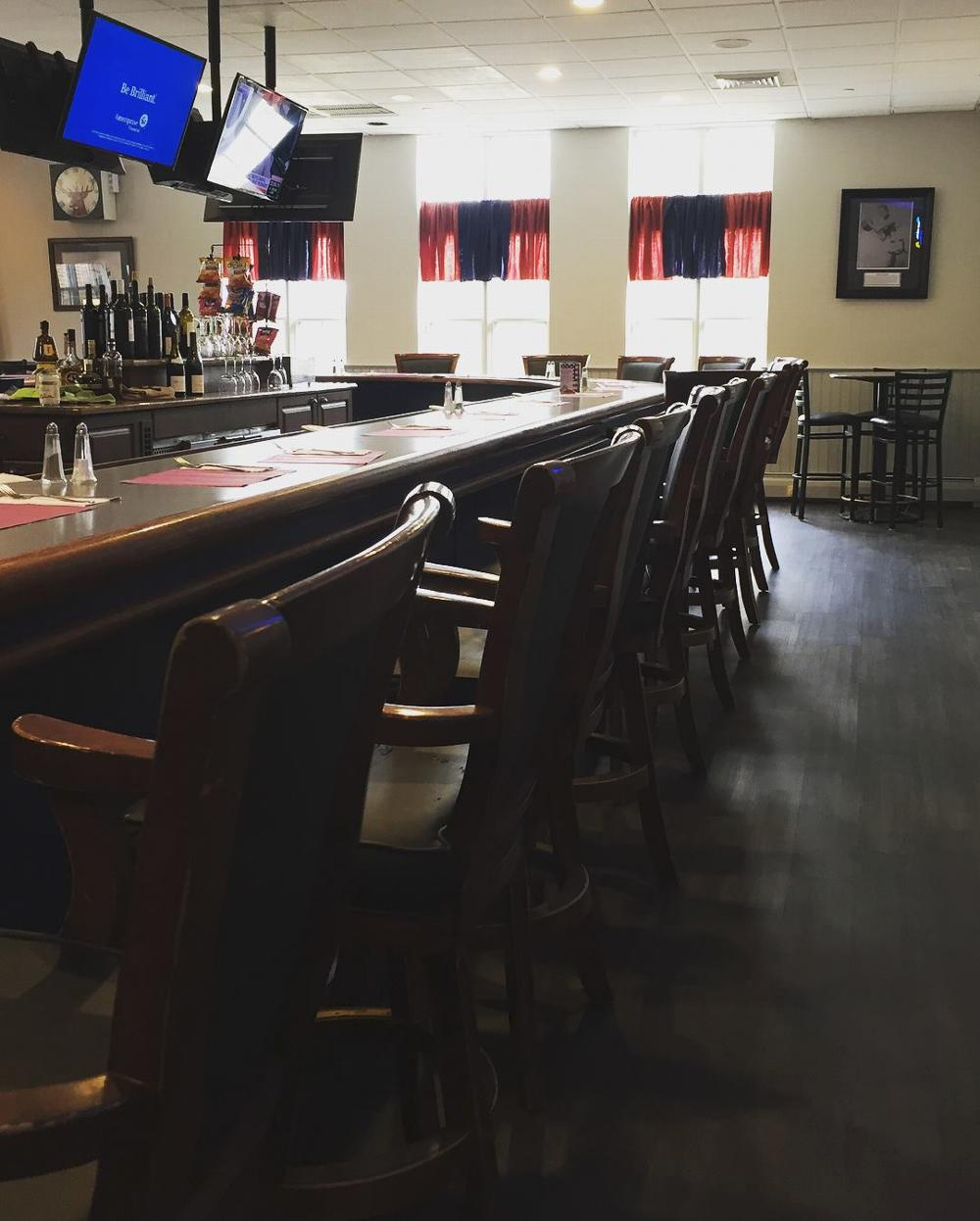 The newly renovated Lodge Bar