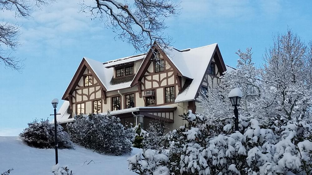 View of the Lodge in Winter