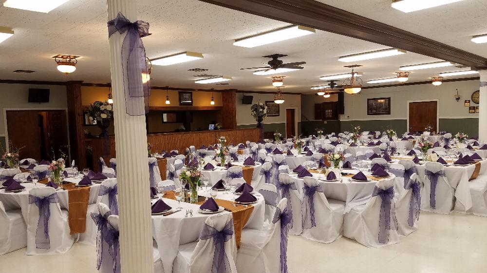 Lower Banquet Hall, also known as #1311 Ballroom. View is from the side of the stage.