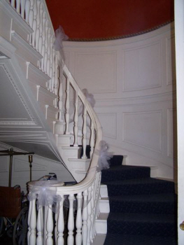The base of the Grand Staircase in the Main Lodge Building