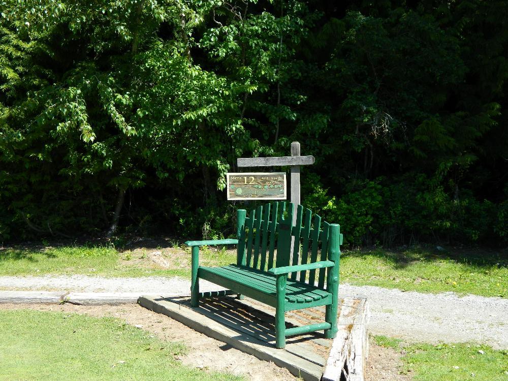 The bench at #12 tee box