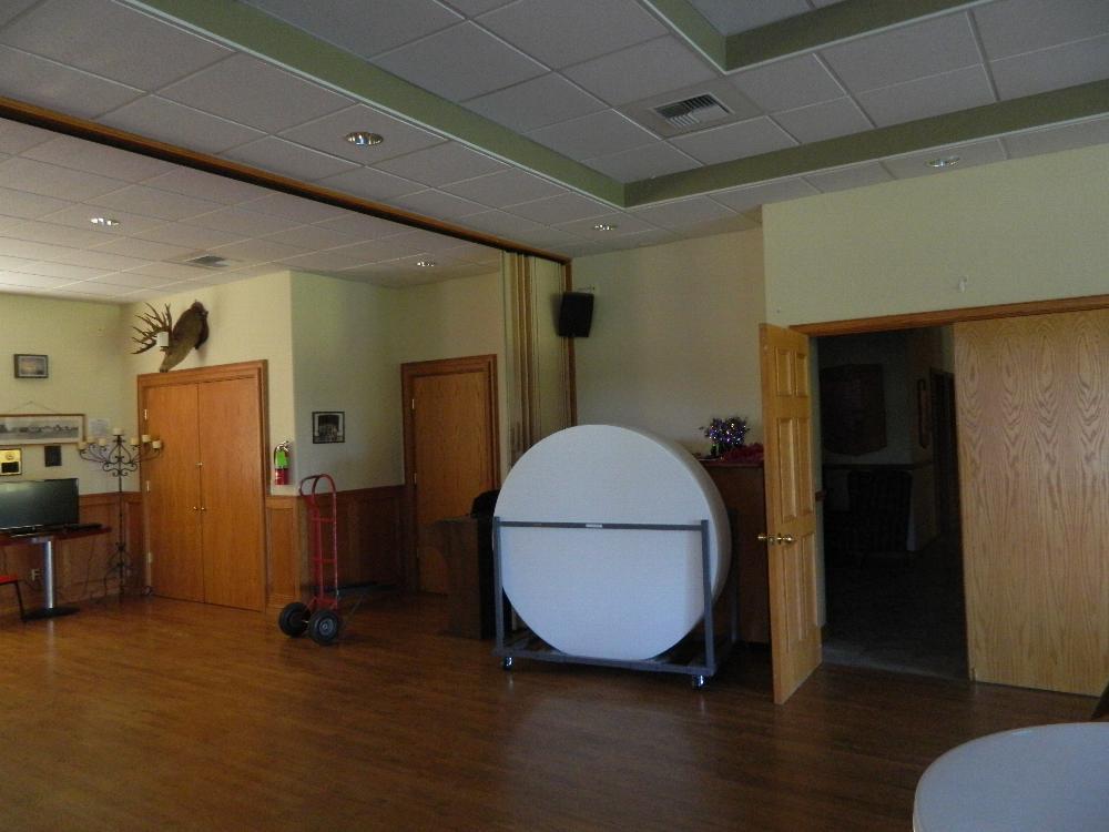 Lodge room entry door