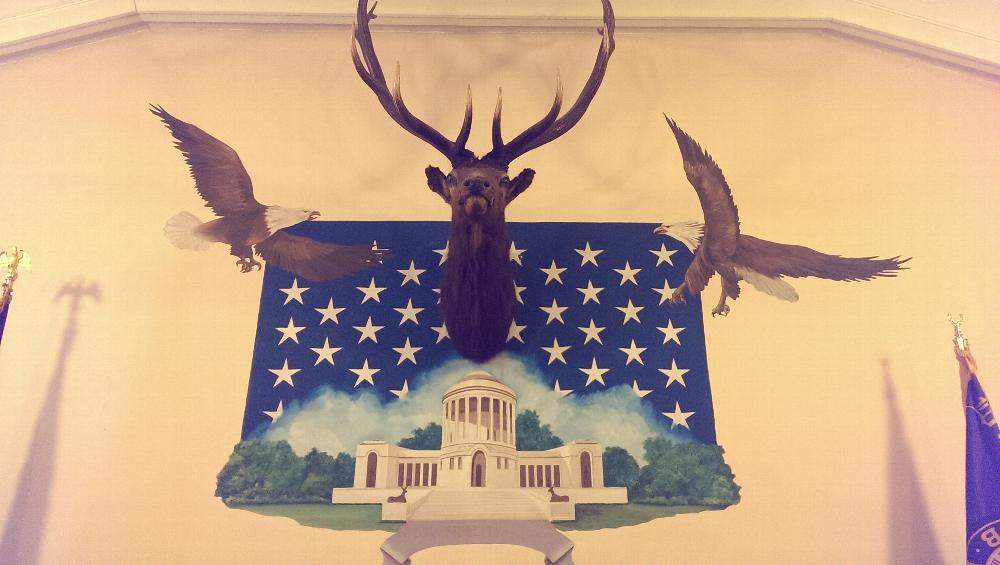 Artwork above station of the Exalted Ruler