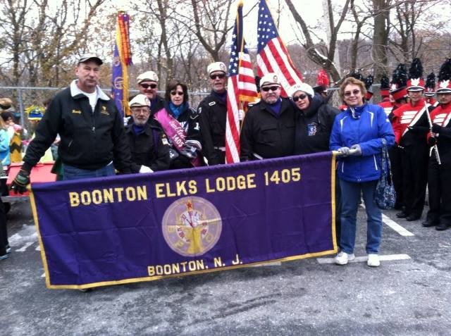 Boonton Elks chilling at the Fireman's Christmas Parade in Boonton at the step off site.