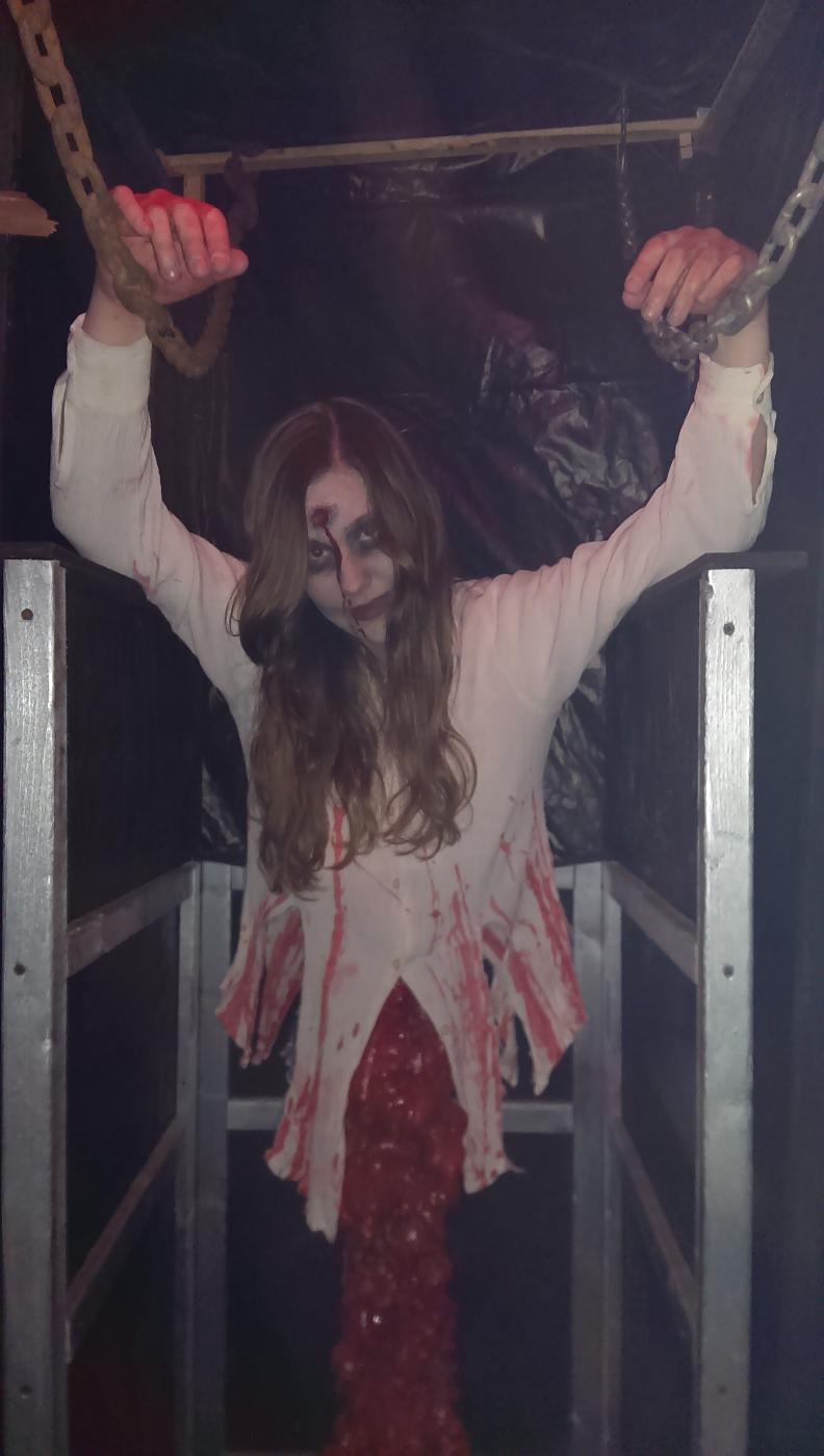 Nicole, the daughter of PER Jim and wife Lisa.  She has been doing the Haunt since she was 13 years old.