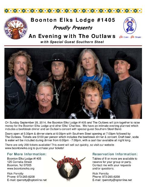 The 2014 Outlaws Concert at Boonton Elks Lodge