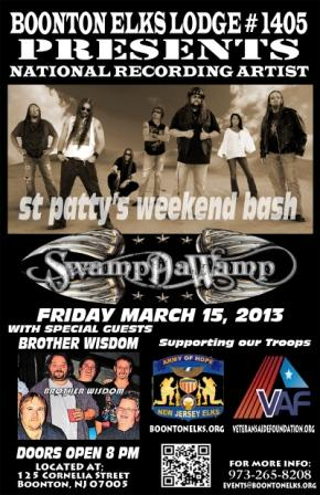 SwampDaWamp was the first nationally recognized band we had play at Boonton.