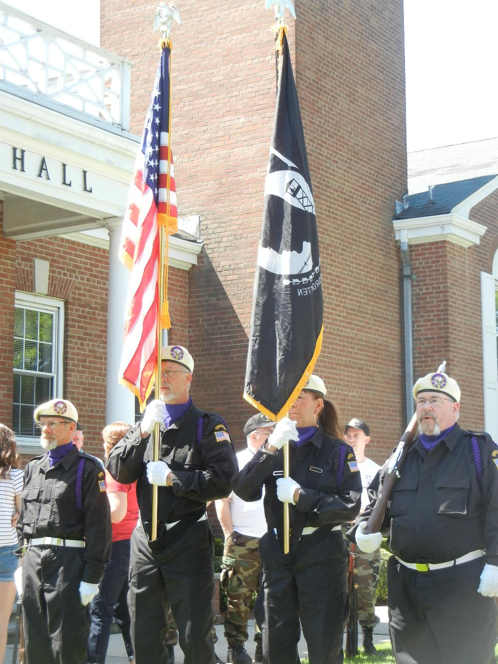 NJ State Convention Military Honor Guard Champions at Boonton Town Hall Memorial Day Service 2013