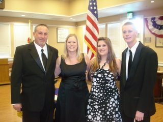 Exalted Ruler Scott Zimmerman, Paula, Shelby and Jake...We wish you much success.
