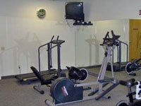 Exercise Room and Sauna Area