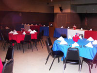 An Police and Fire Appreciation Banquet used the full Mult-purpose room.