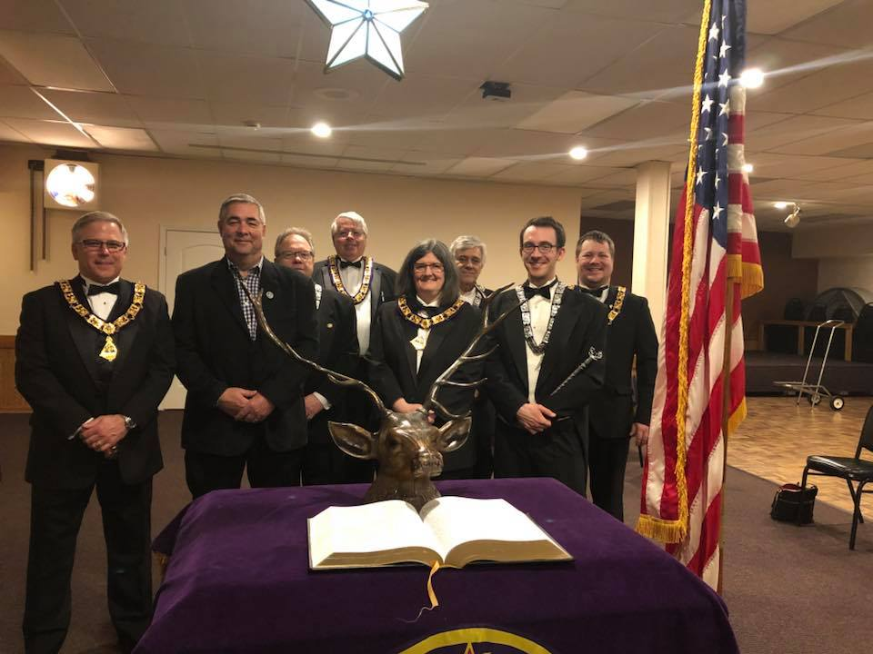 Lodge Officers and New Member