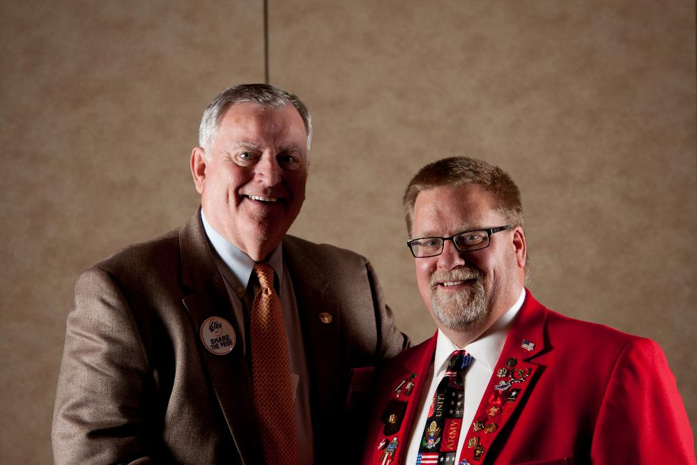Pictured here from our recent Fall Conference in Appleton are Grand Exalted Ruler Ronald Hicks with our very own, Rob Radig, Sr., Beaver Dam #1540 Trustee and Wisconsin Elk's Association President-Elect.