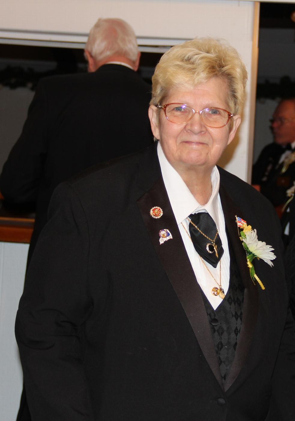 Lodge Treasurer, Betty Legere, PER