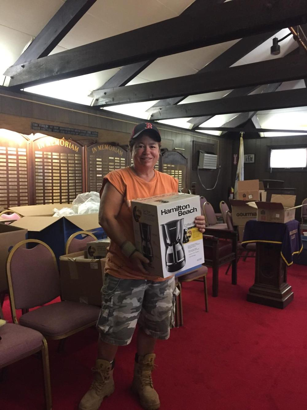 Donna Medeiros, PER, the best in Elkdom! Working with members on our Beacon Grant Veterans Household Helpers