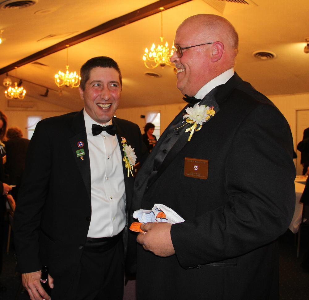 Lodge Secretary, Jeff Deitke,PER and Loyal Knight, Larry Bachand.