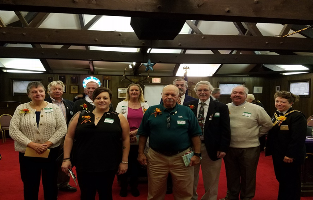On October 20, 2018 at the annual District Deputy Visitation, we initiated these 10 new members. Please say hello to them if you meet them in the lounge and make them feel welcome! Front Row L to R: Tricia Murphy, Jacqueleen (Jaqui) Simpson, Michael (Mike) Forit, Alvan Hathaway, Edward (Ed) White with Donna Medeiros, PER  Back Row L to R: David Ethier, James (Jim) Cuddy, Mary Bigwood, James (Jim) Lally,  Not pictured: Ken Doyle