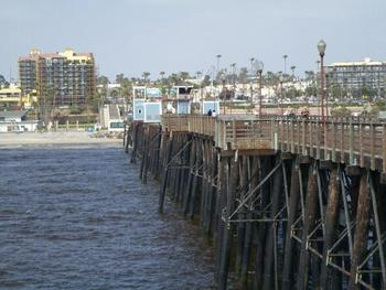 VIEW OF OCEANSIDE FROM THE PIER