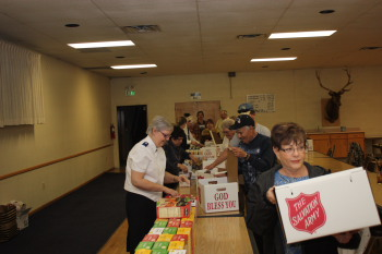 Our Lodge teamed up with the Salvation Army to provide food baskets last year at Thanksgiving