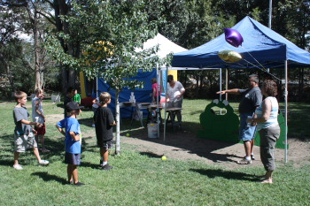 Games for the kids at the 75th, held at Elks Park