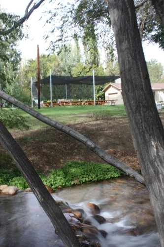 Elks Park, Located at the West side of Bishop on the way to the lakes. Bishop creek runs through it. Available for RVers and rentals. Outdoor seating with Kitchen and Restrooms.