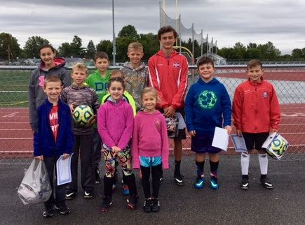 Participants & winners of our annual Elks Soccer Shoot 2017