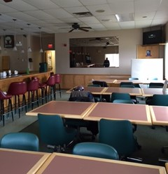 Table seating is also available in our lounge.