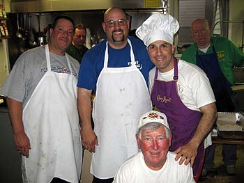 "A few of the Cooks that prepare our ""Famous Fabulous Fish Fry"", and one Hell of a Great Job They Do!"