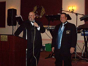 Left - Dave Banach, Exalted Ruler & Right - Bob Whitaker, Trustee & District State V.P.