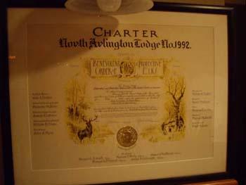 Charter ~ Elks North Arlington, NJ Lodge #1992