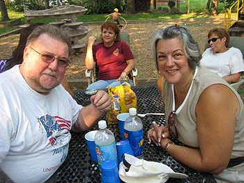 Lefty (Has one Hell of a Left Hook) and his bride Linda at the Picnic