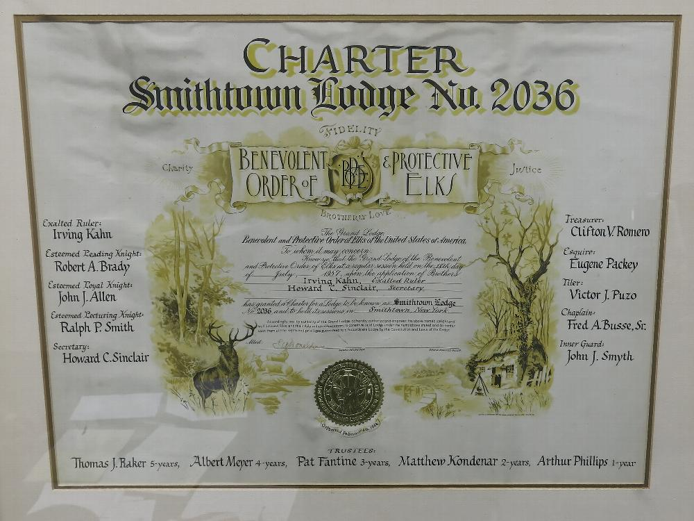 The Lodge's Charter - 1957