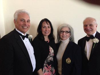 Peter Famularo ER along with his wife Joyce and Terry and Martin Rosenthal - Elks New York State President