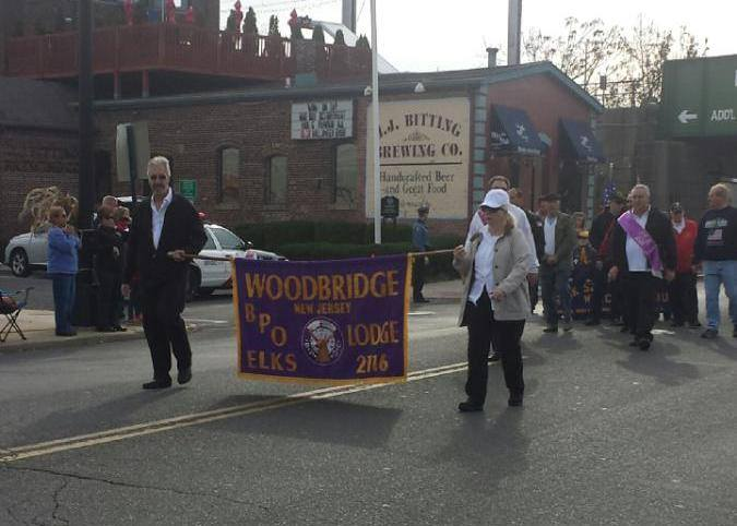 Marching in the Woodbridge Veterans Day Parade