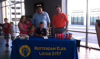 PSVP Pedro and PER Charlie Pemburn with one of our families at the Sense-Able movie.